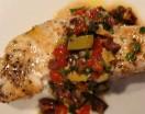 baked swordfish with olive relish