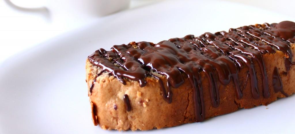 chocolate-dipped mocha biscotti