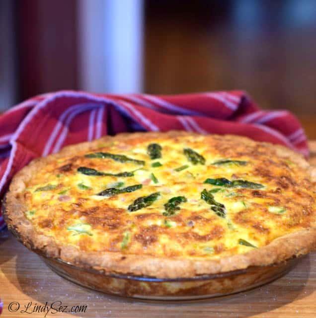 Lindy's Favorite Pie Crust in a quiche