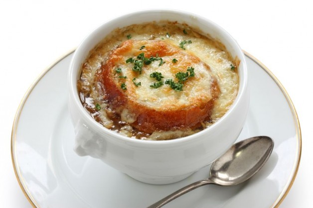 Lindy's French Onion Soup in a bowl