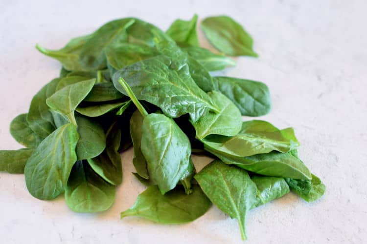 Fresh Spinach for saute.