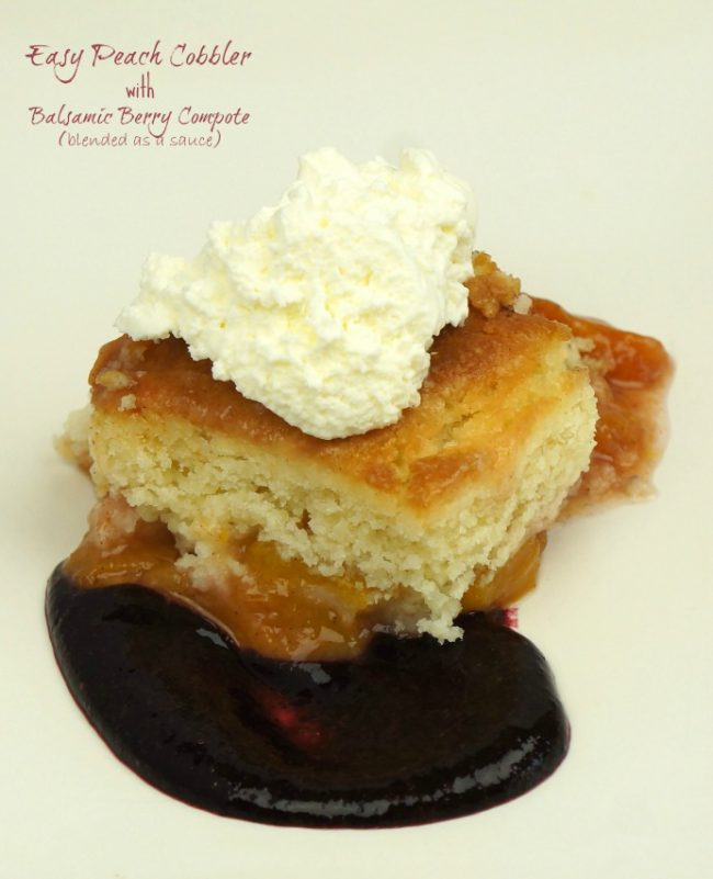 Easy Peach Cobbler with Compote