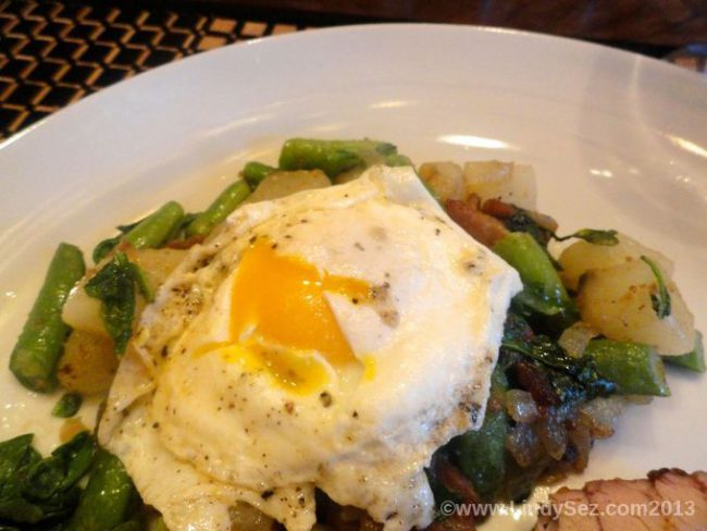 Green Bean and Potato Hash with Arugula