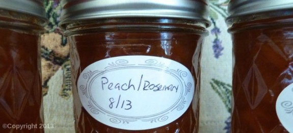 Peach Rosemary Jam | LindySez | Recipes
