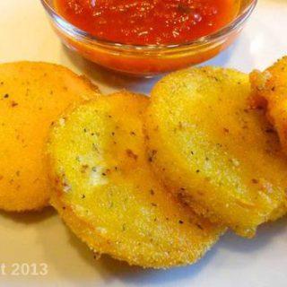 cornmeal crusted fried squash