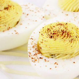 Backyard Chicken Deviled Eggs