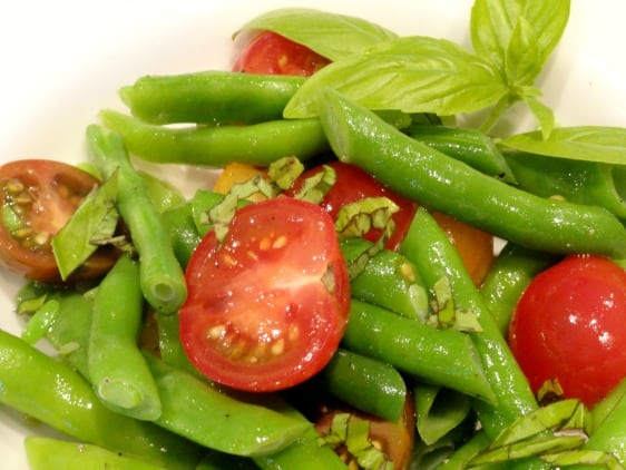 Green Bean and Cherry Tomato Salad header