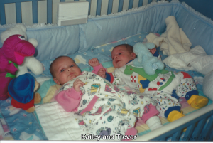 Trevor and Kailey as babies