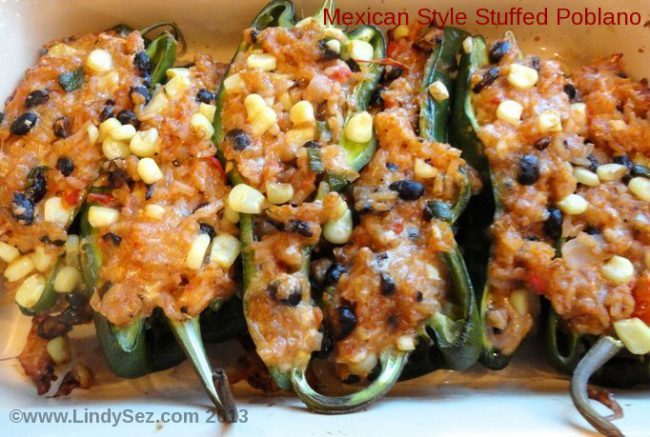 Mexican Style Stuffed Poblano