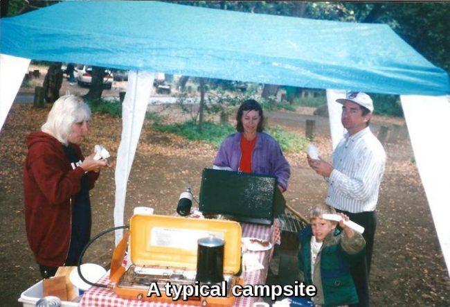 Skillet Lasagna enjoyed while camping