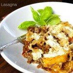 Skillet Lasagna in a white bowl