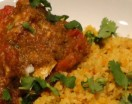 Baked Charmoula Halibut with Couscous
