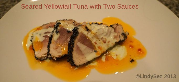 Seared Yellowtail Tuna with Two Sauces