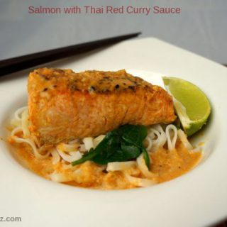 Salmon with Thai Red Curry Sauce