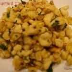 mustard thyme spatzle