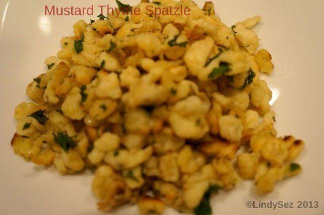 Mustard Thyme Spaetzle