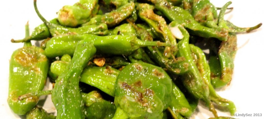pan fried padron or shishito peppers