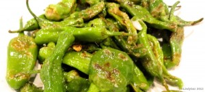 pan fried padron or shishito peppers
