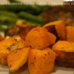 Roasted Butternut Squash with Blue Cheese and Walnuts