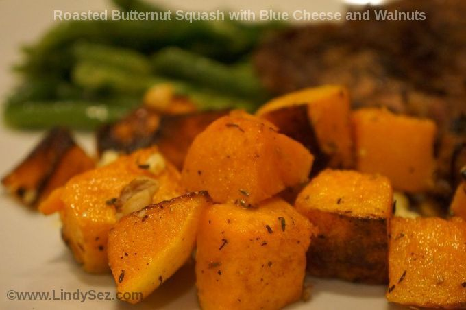 Roasted Butternut Squash with Blue Cheese and Walnuts ...