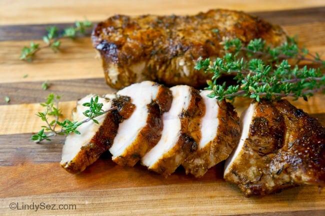 Sliced Balsamic Glazed Pork Chops