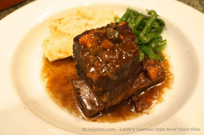 German Style Beef Short Ribs in a bowl