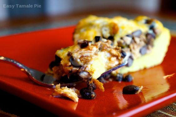 Easy Tamale Pie on a plate