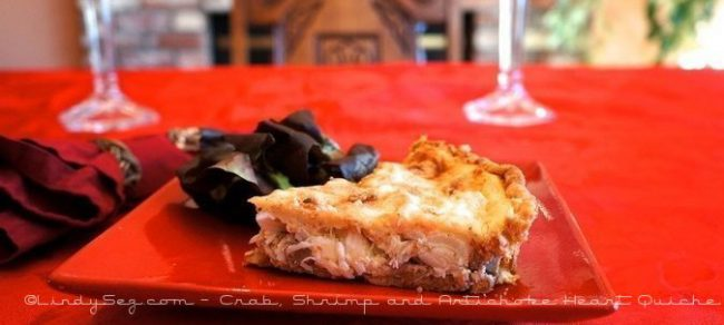 Crab, Shrimp and Artichoke Heart Quiche