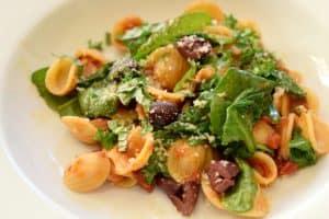 Orecchiette with Spinach and Feta