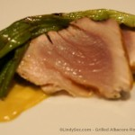 Grilled Albacore Roast with Curry Mustard Sauce