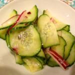 a simple cucumber salad