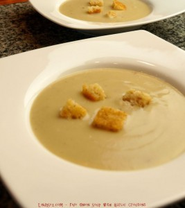 Five Onion Soup with Garlic Croutons