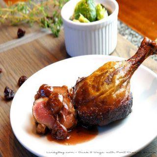 Duck 2 Ways with Cherry Port Sauce