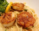 Lemon Fettuccine with Seared Scallops