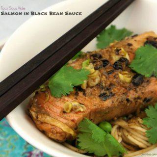 Faux Sous Vide Salmon in Black Bean Sauce