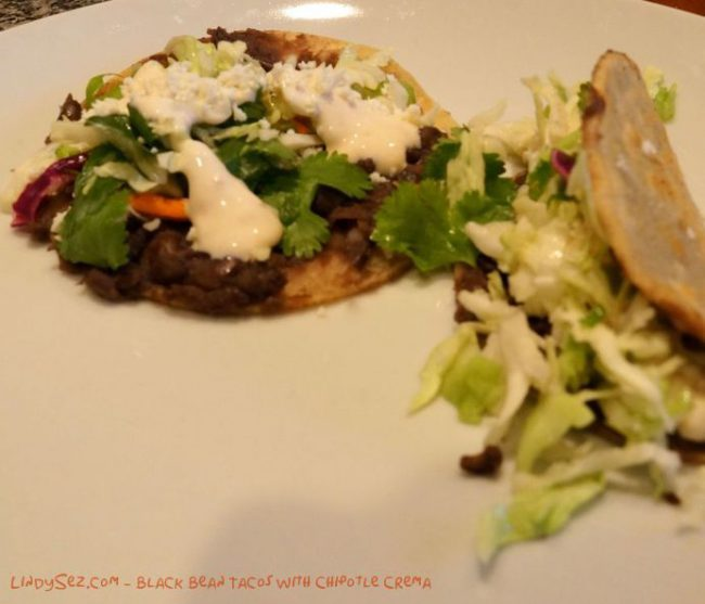 Black Bean Tacos with Chipotle Crema