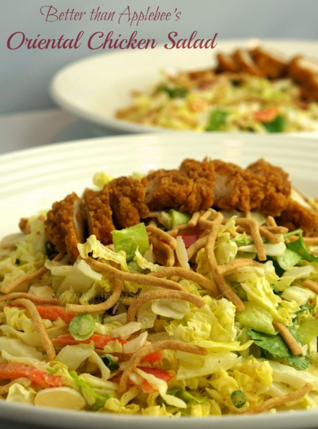 Better than applebees oriental chicken salad