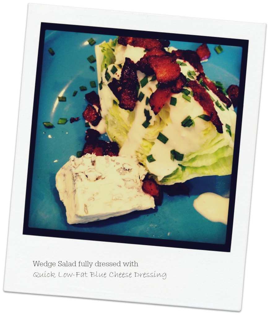 Quick Low-Fat Blue Cheese Dressing | LindySez | Recipes, Tips, Blog