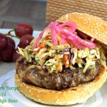 Asian Pork Burger with Asian Style Slaw