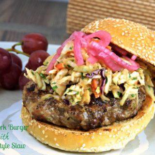 Asian Pork Burger with Asian Style Slaw