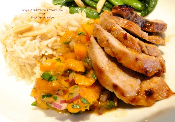 Chipotle Glazed Pork Tenderloin with Fresh Peach Salsa