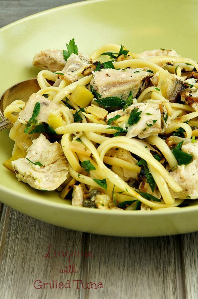Linguine with Grilled Tuna