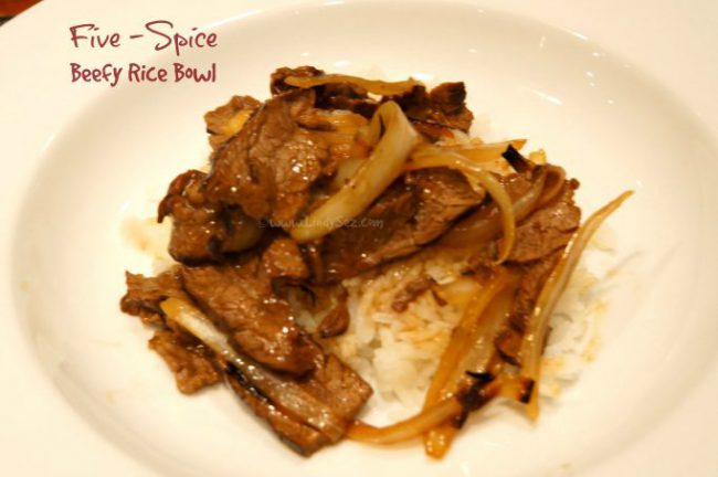 Five-Spice Beefy Rice Bowl