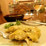 hatch chile green chicken enchilada