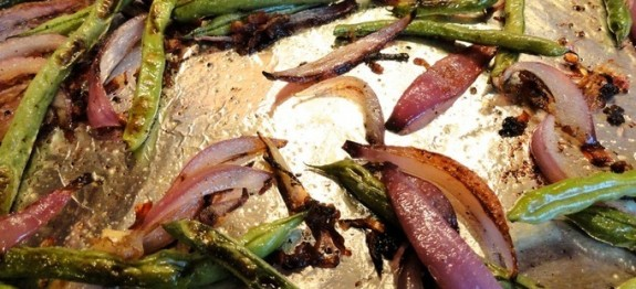 roasted green beans with proscuitto