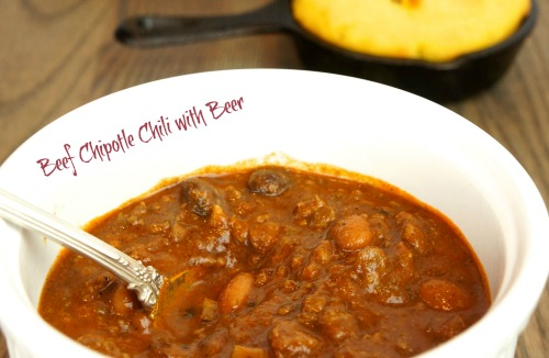bowl of Beef Chipotle Chili