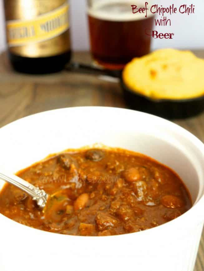 beef chipotle chili with beer