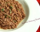 Red Wine Rosemary Risotto on a plate