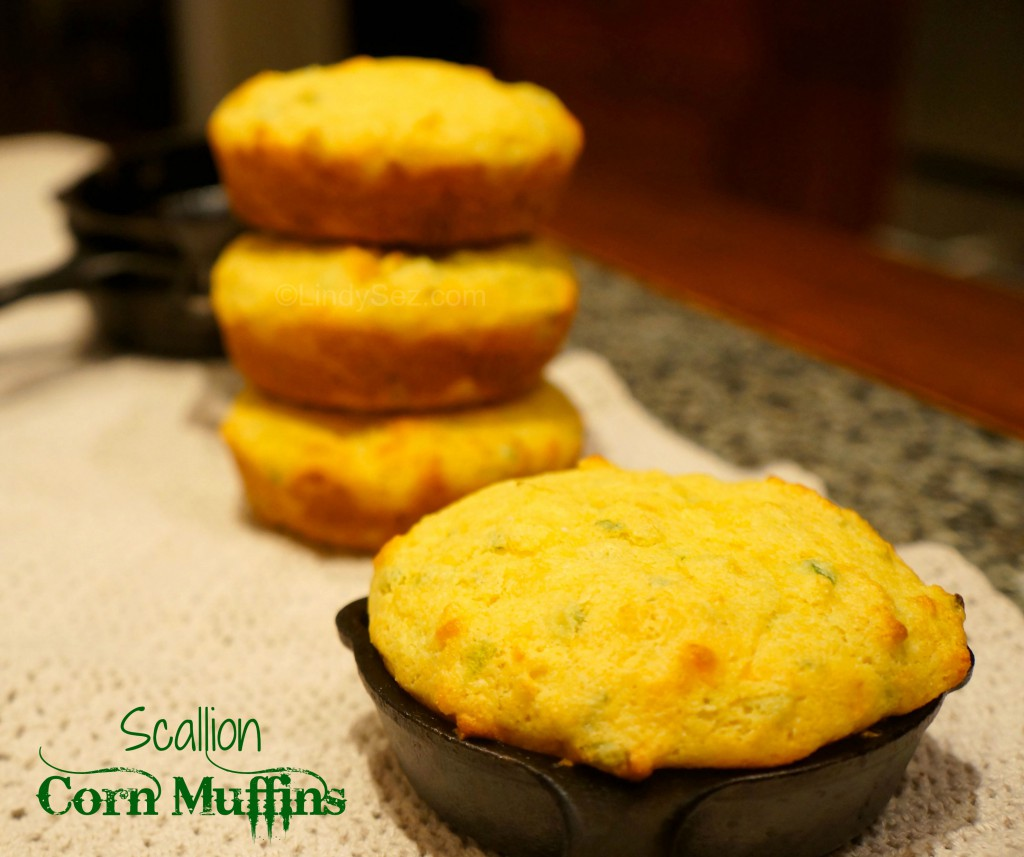 Scallion Corn Muffins