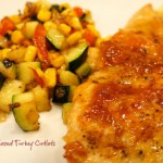 Apricot Chipotle Glazed Turkey Cutlets